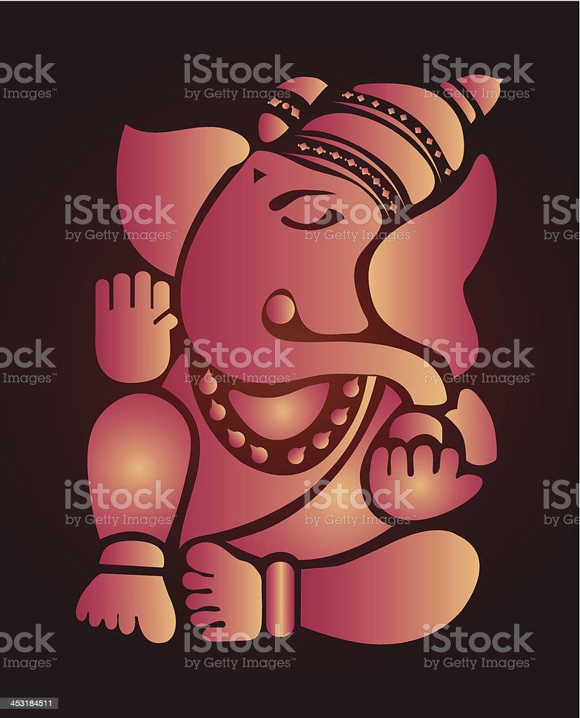 Ganesh illustration royalty-free stock vector art