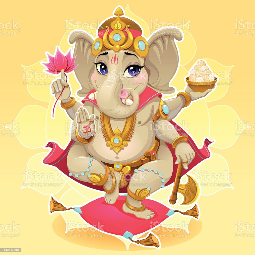 Ganesh vector art illustration