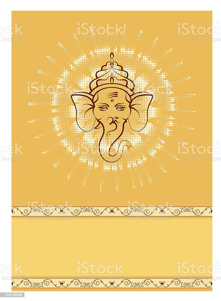 Ganesha vector art illustration