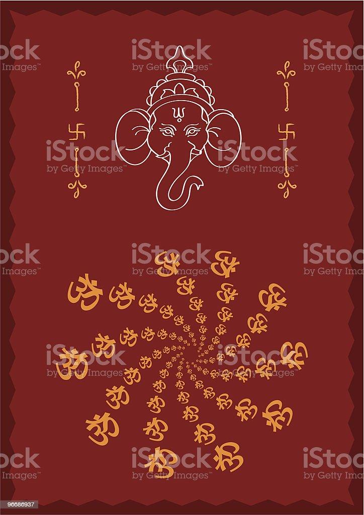 Ganesha royalty-free stock vector art