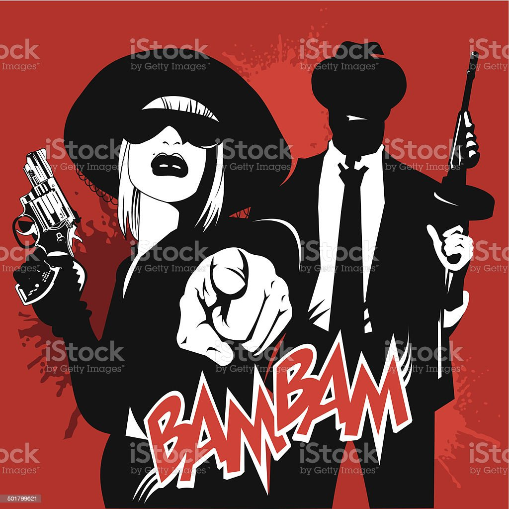 gang vector art illustration