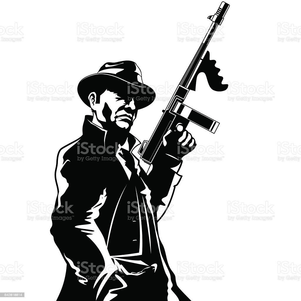 Gangster vector art illustration