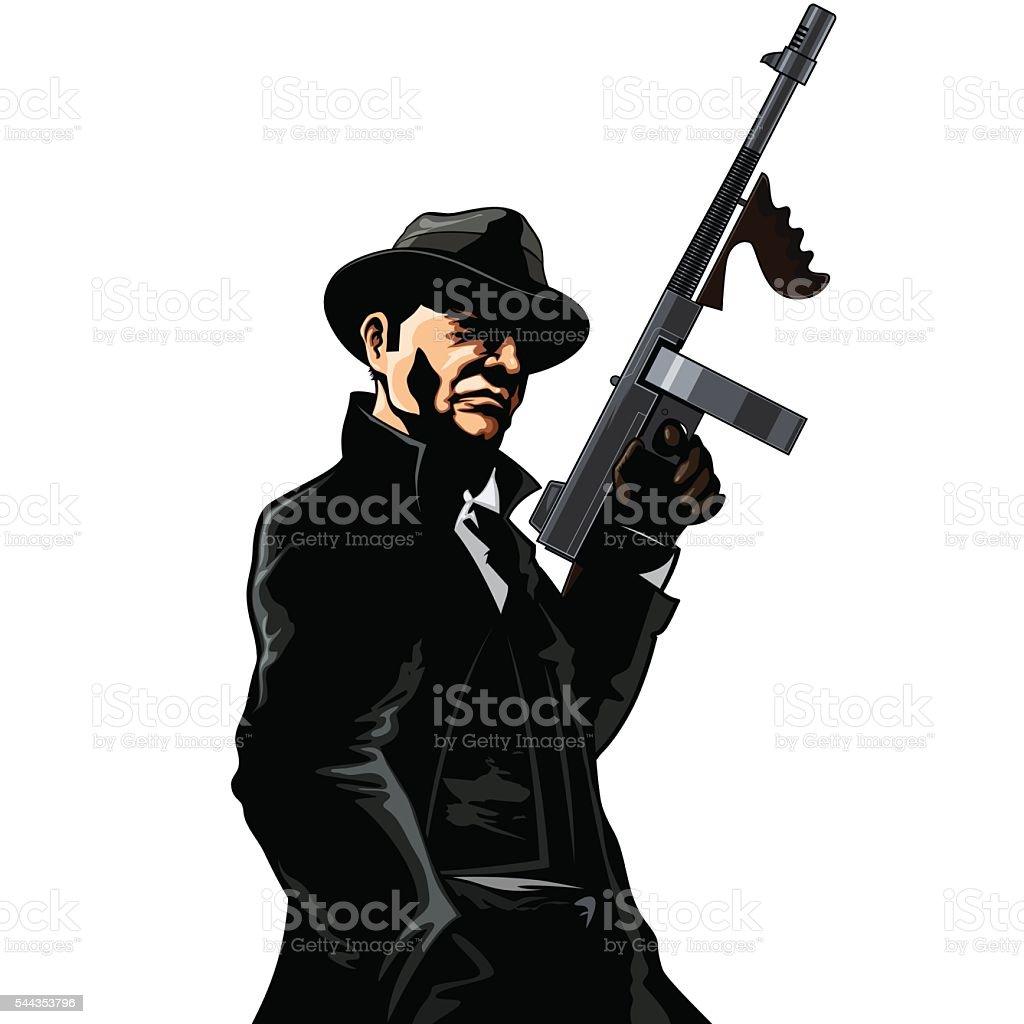 Gangster vector art illustration