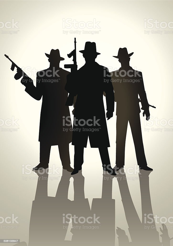 Gangsters vector art illustration
