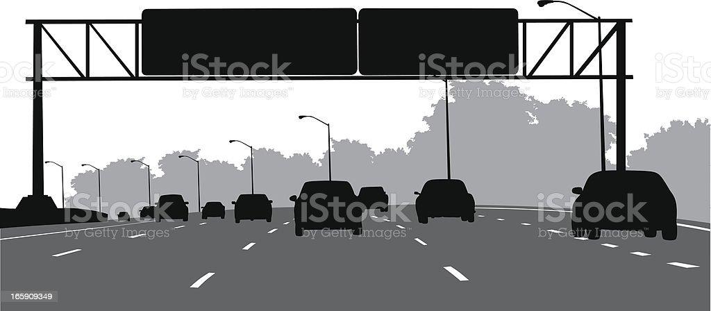 Gantry  Vector Silhouette vector art illustration