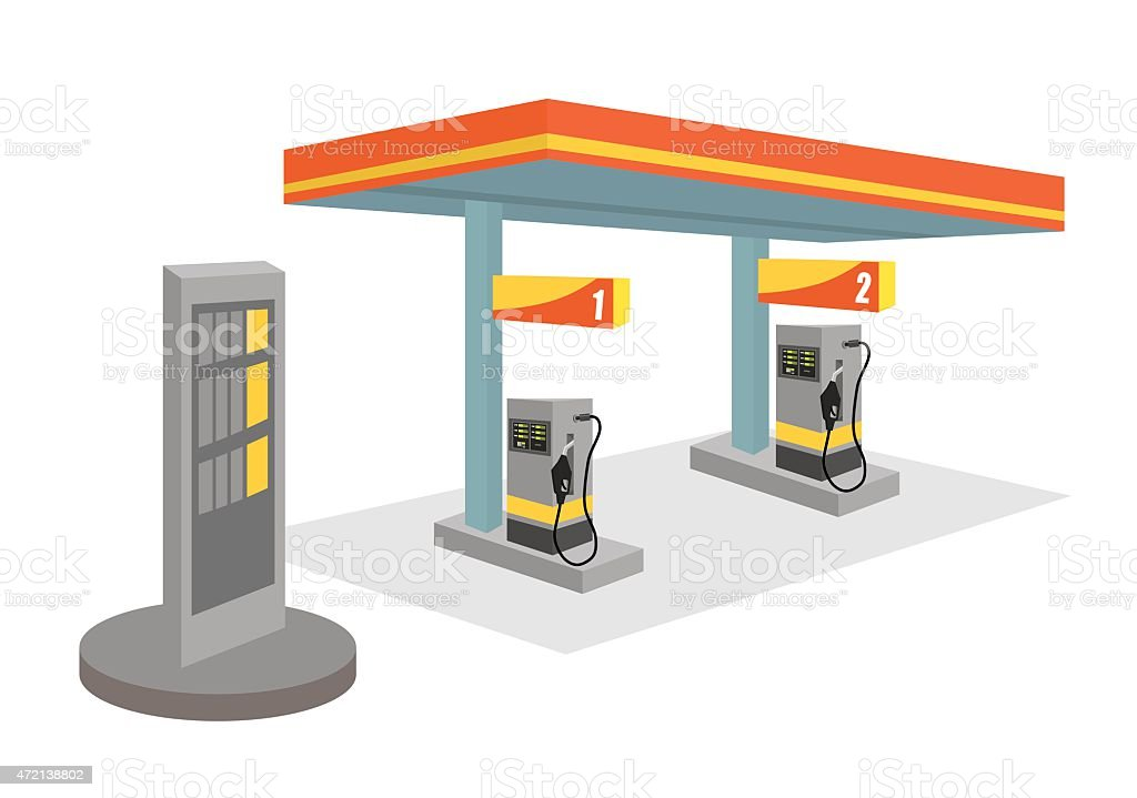 Garage design. vector art illustration