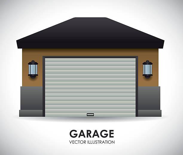 Garage Door Clip Art : Garage clip art vector images illustrations istock