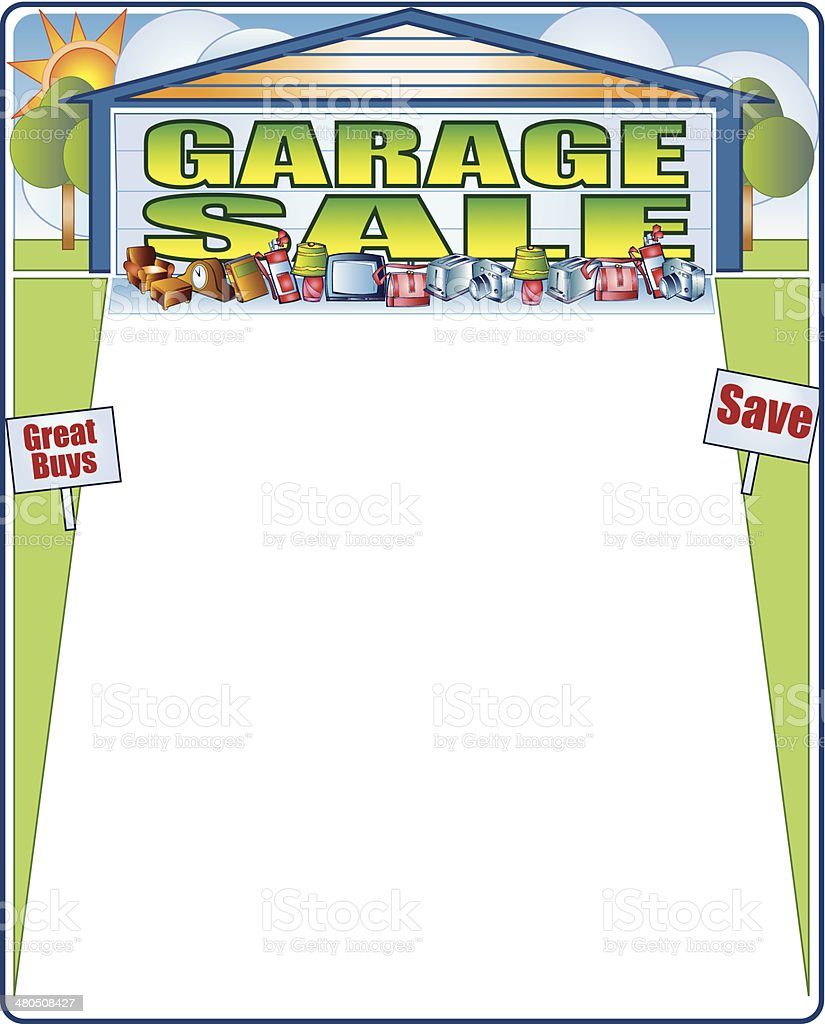 Garage Sale Frame C vector art illustration