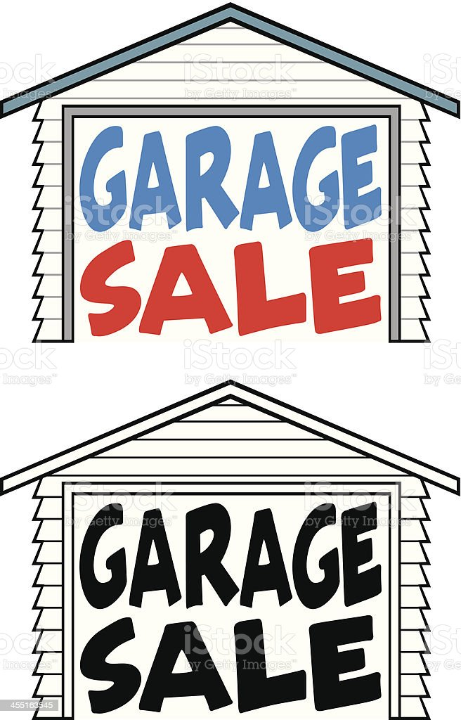 Garage Sale Notice vector art illustration