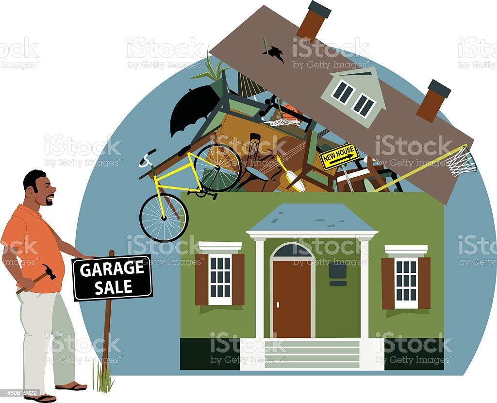 Garage Sale vector art illustration