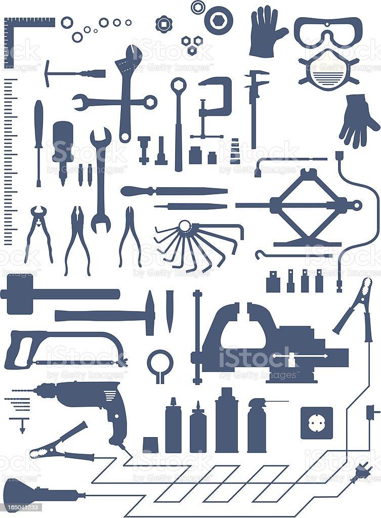 garage shapes vector art illustration