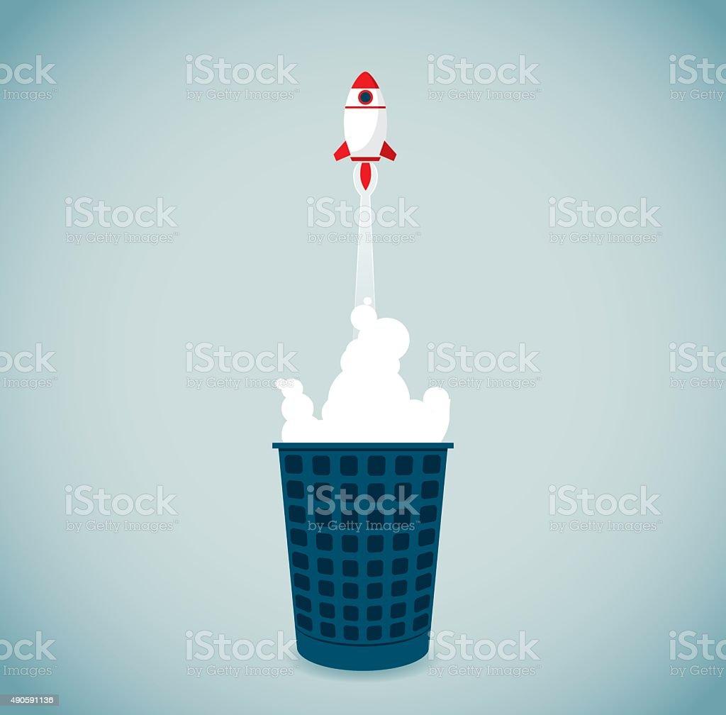 Garbage Bin vector art illustration