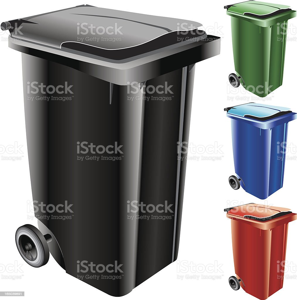 Garbage Can (Vector) royalty-free stock vector art