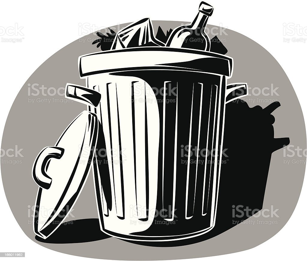 garbage can royalty-free stock vector art