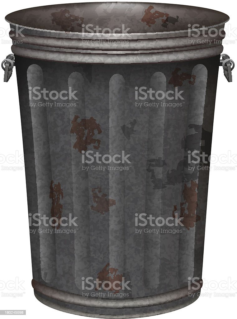 garbage can vector art illustration