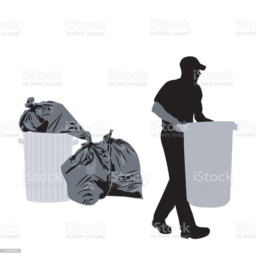 Garbage Day vector art illustration