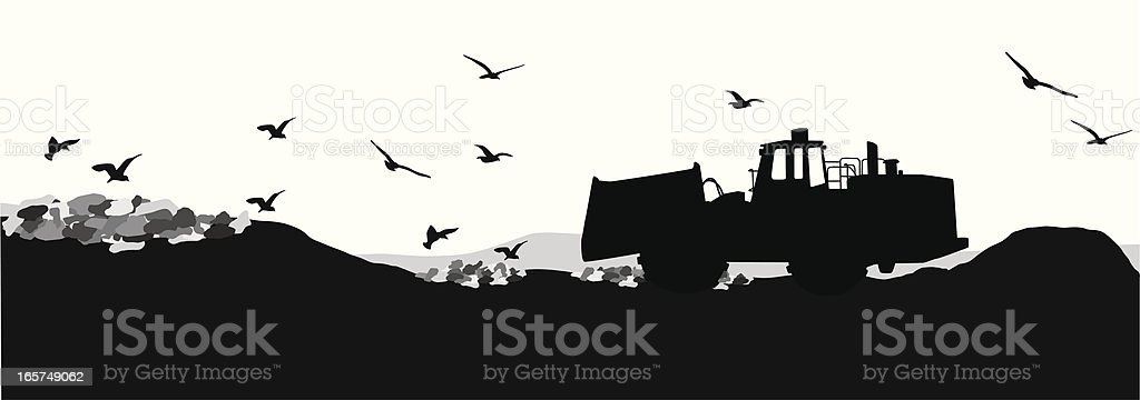 Garbage Dump Vector Silhouette royalty-free stock vector art