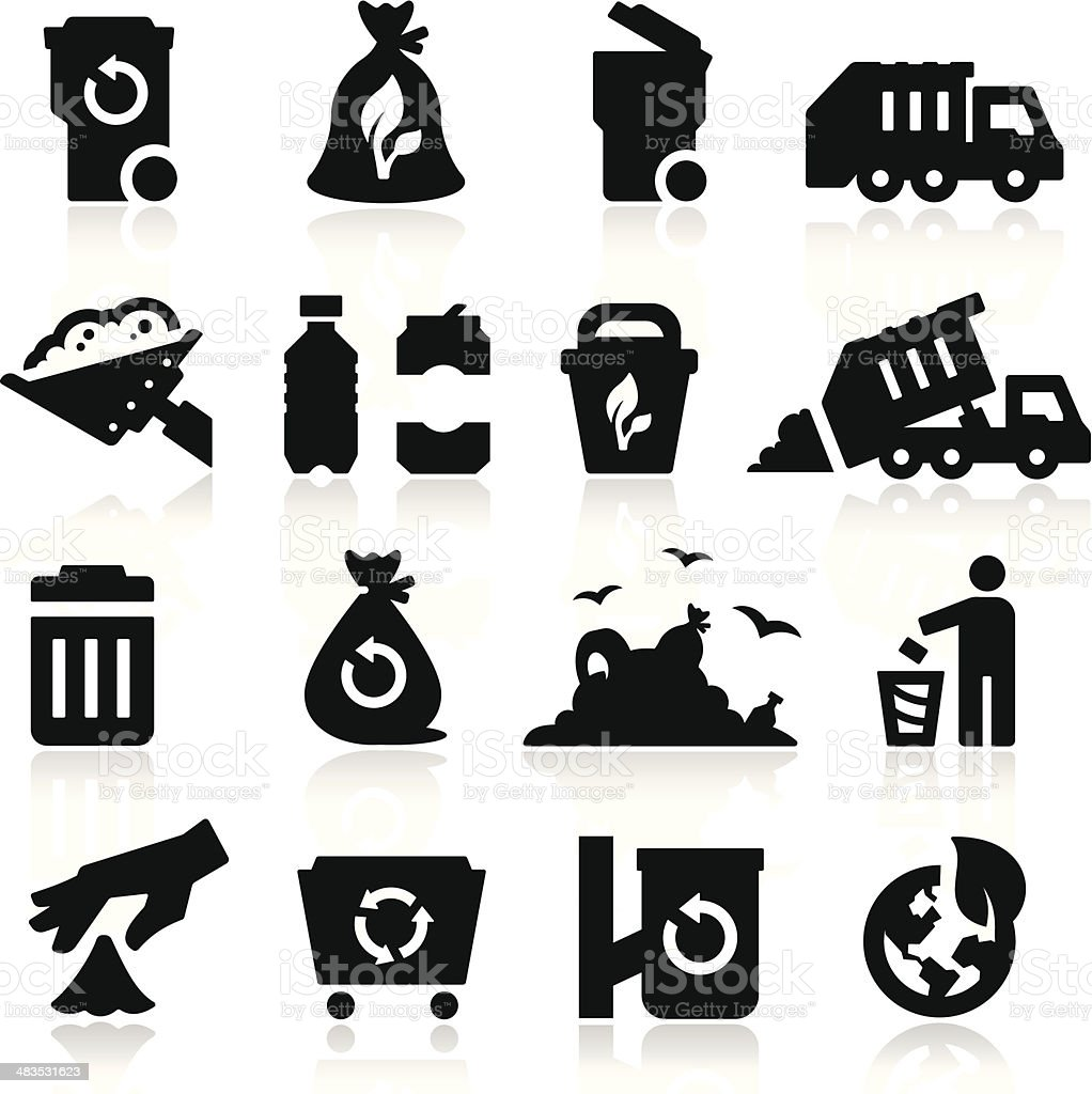Garbage Icons royalty-free stock vector art