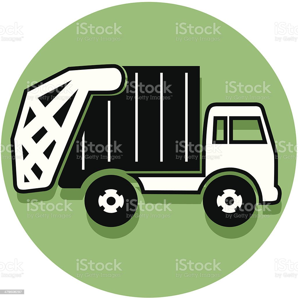 garbage truck icon royalty-free stock vector art