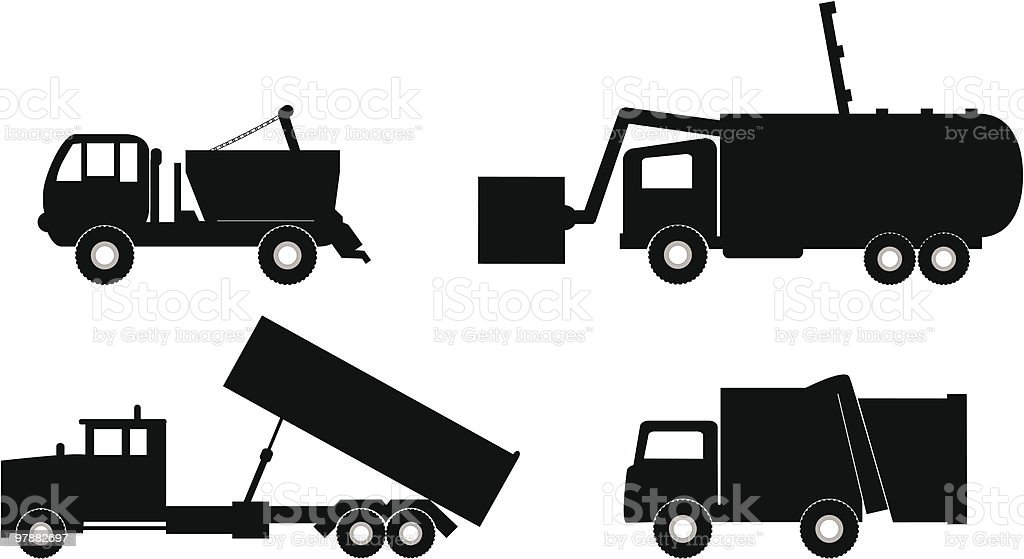garbage truck illustration royalty-free stock vector art