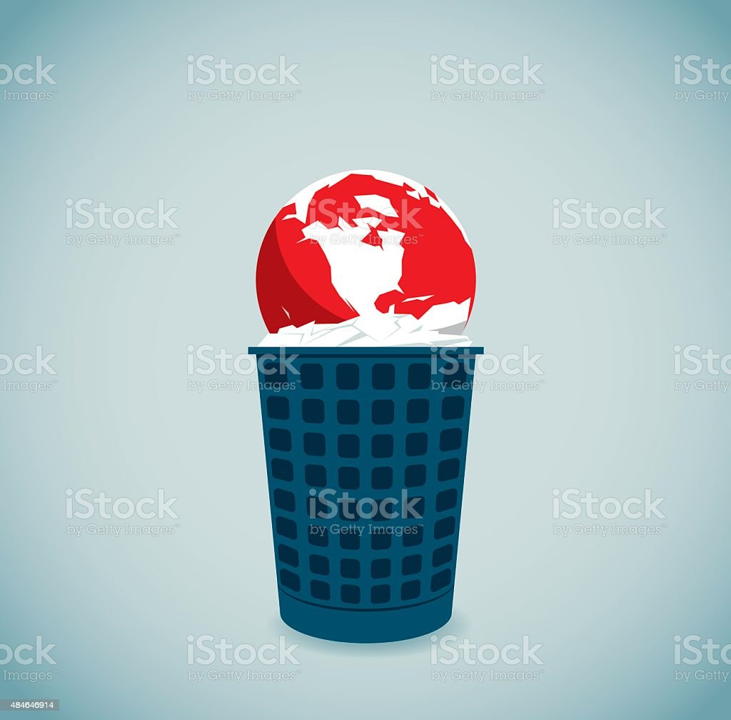 Garbage vector art illustration