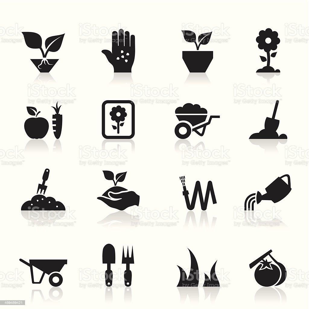 Garden an icon vector art illustration