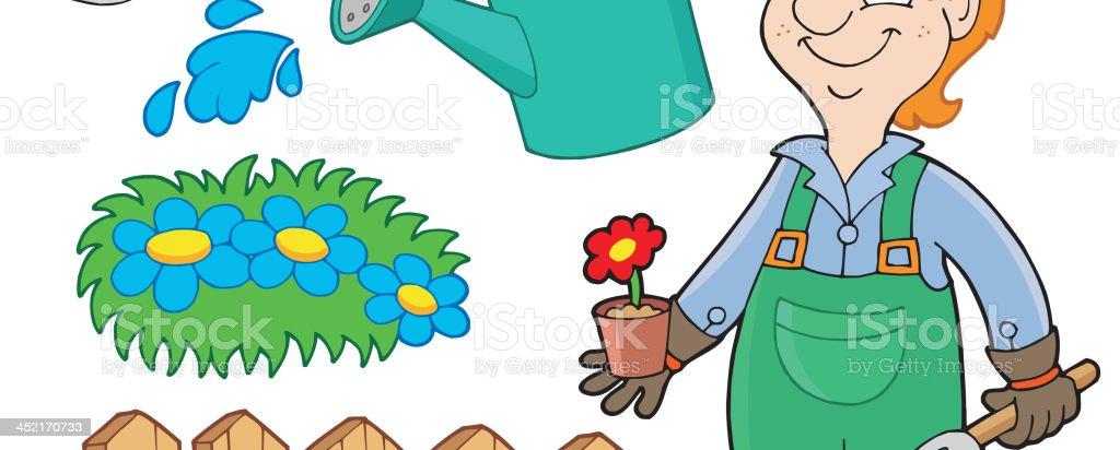 Garden collection royalty-free stock vector art