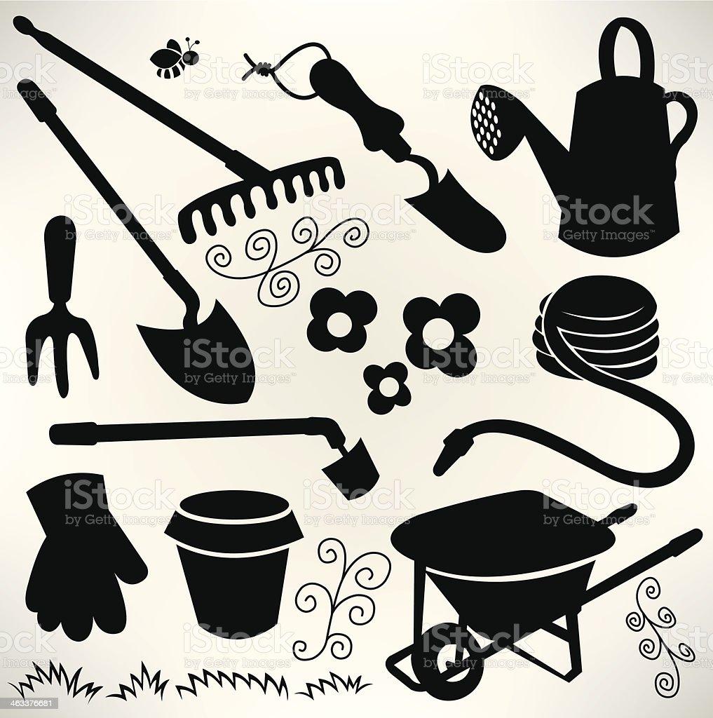 Garden Equipment - Spring Season royalty-free stock vector art