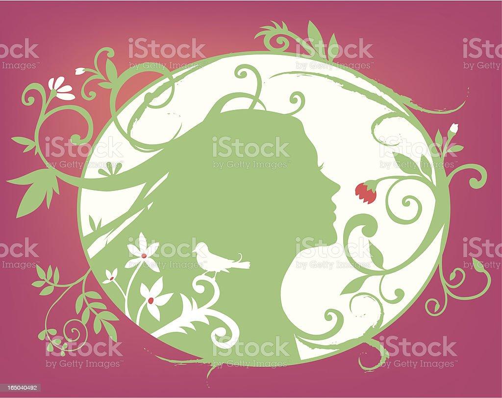 garden fairy royalty-free stock vector art