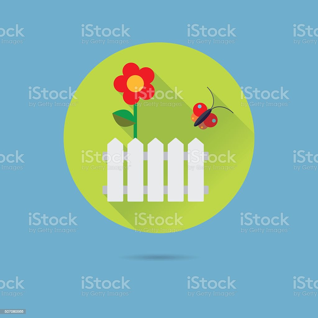 Garden Flat Design Vector Icon vector art illustration