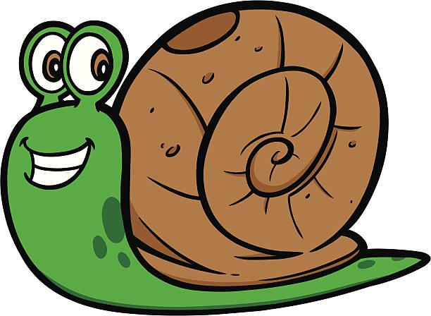 Snail clip art vector images illustrations istock - Clipart escargot ...