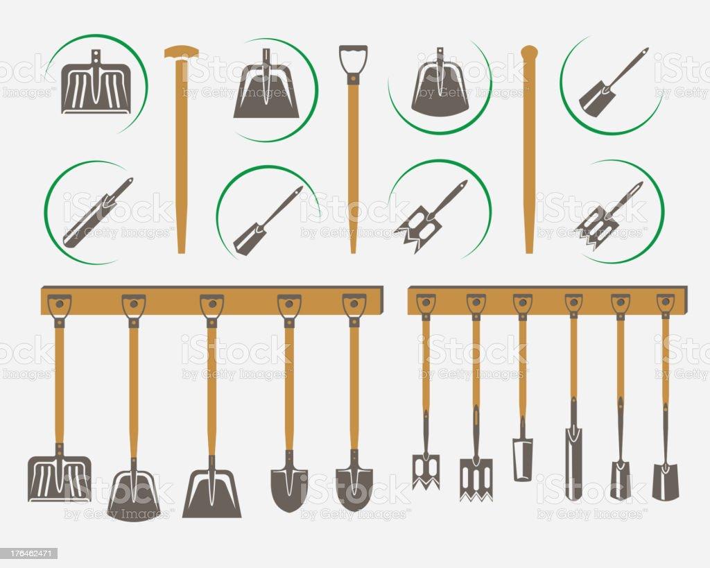 garden spade royalty-free stock vector art