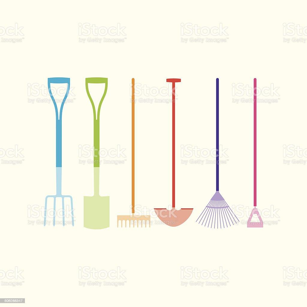 Garden Tools royalty-free stock vector art