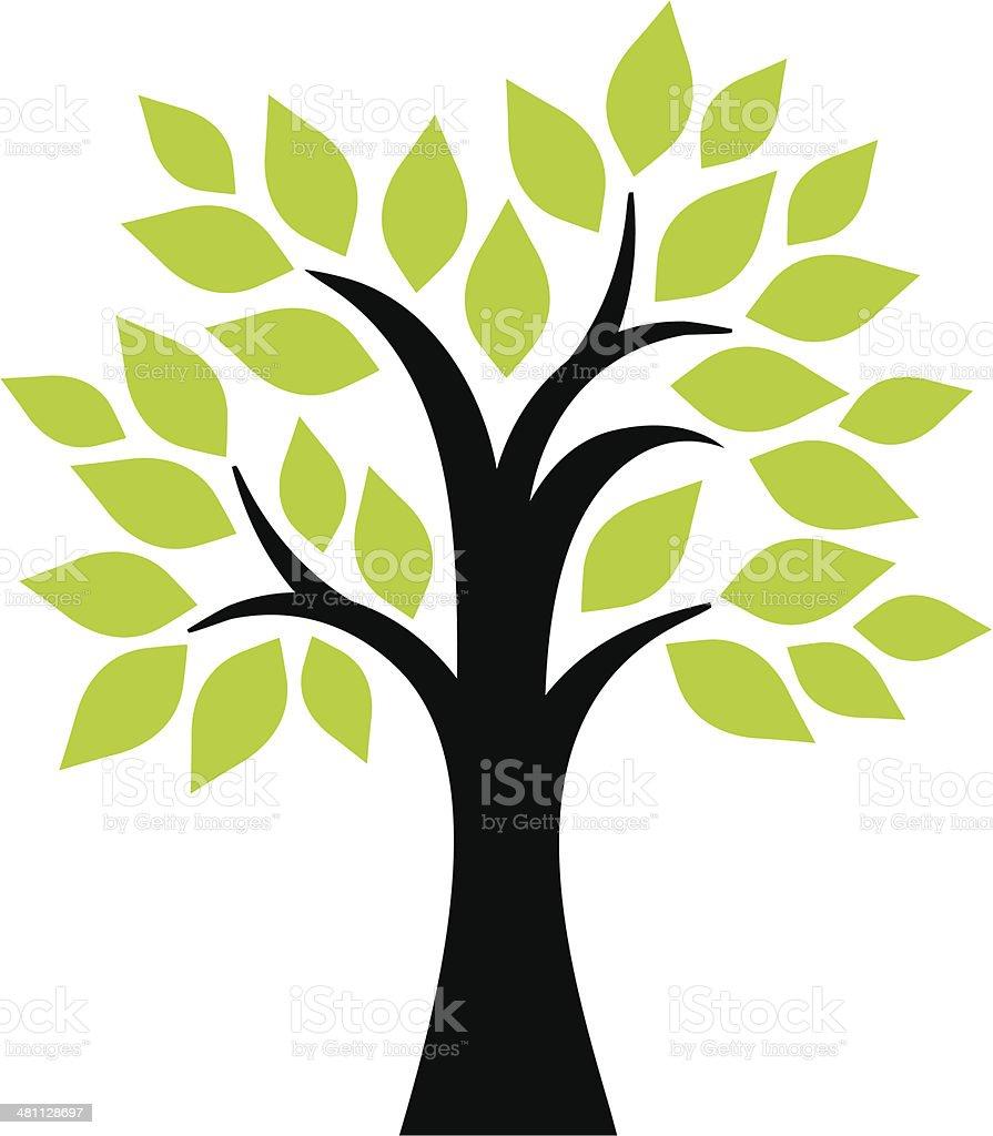 Garden tree vector art illustration