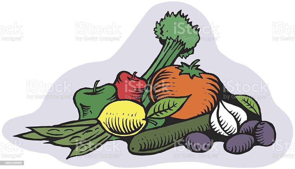 Garden Vegetables royalty-free stock vector art