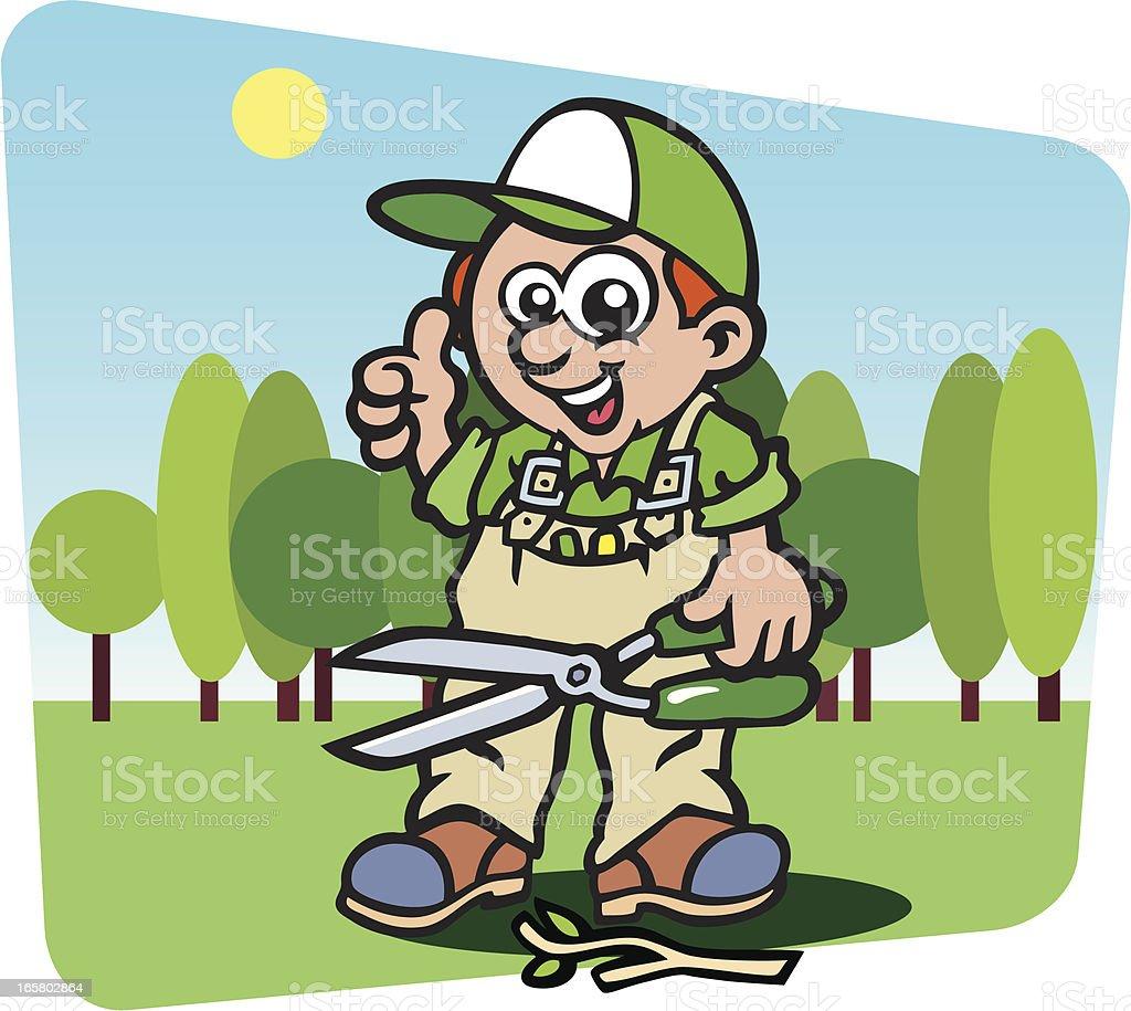 Gardener vector art illustration