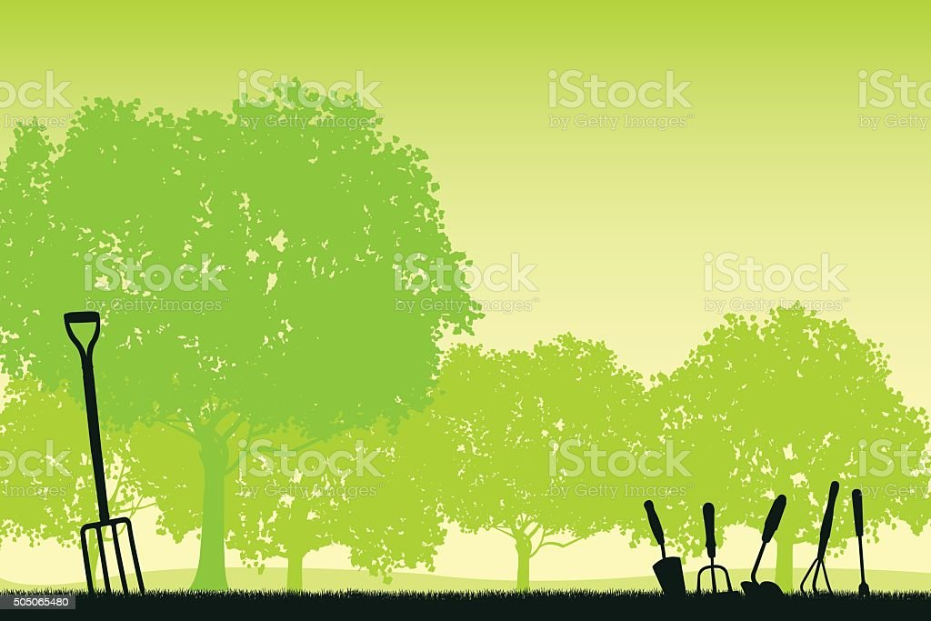 Gardening Background vector art illustration