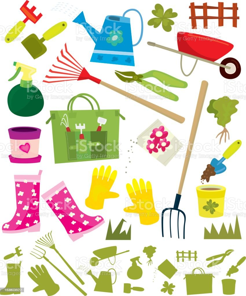 Gardening Design Elements royalty-free stock photo