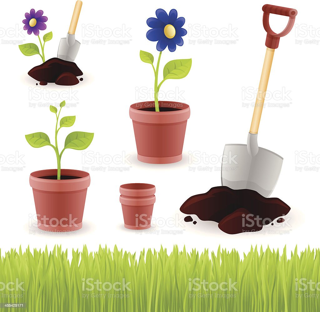 Gardening Elements royalty-free stock vector art