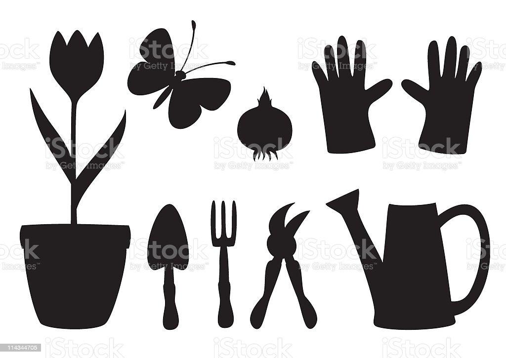 Gardening equipment royalty-free stock vector art
