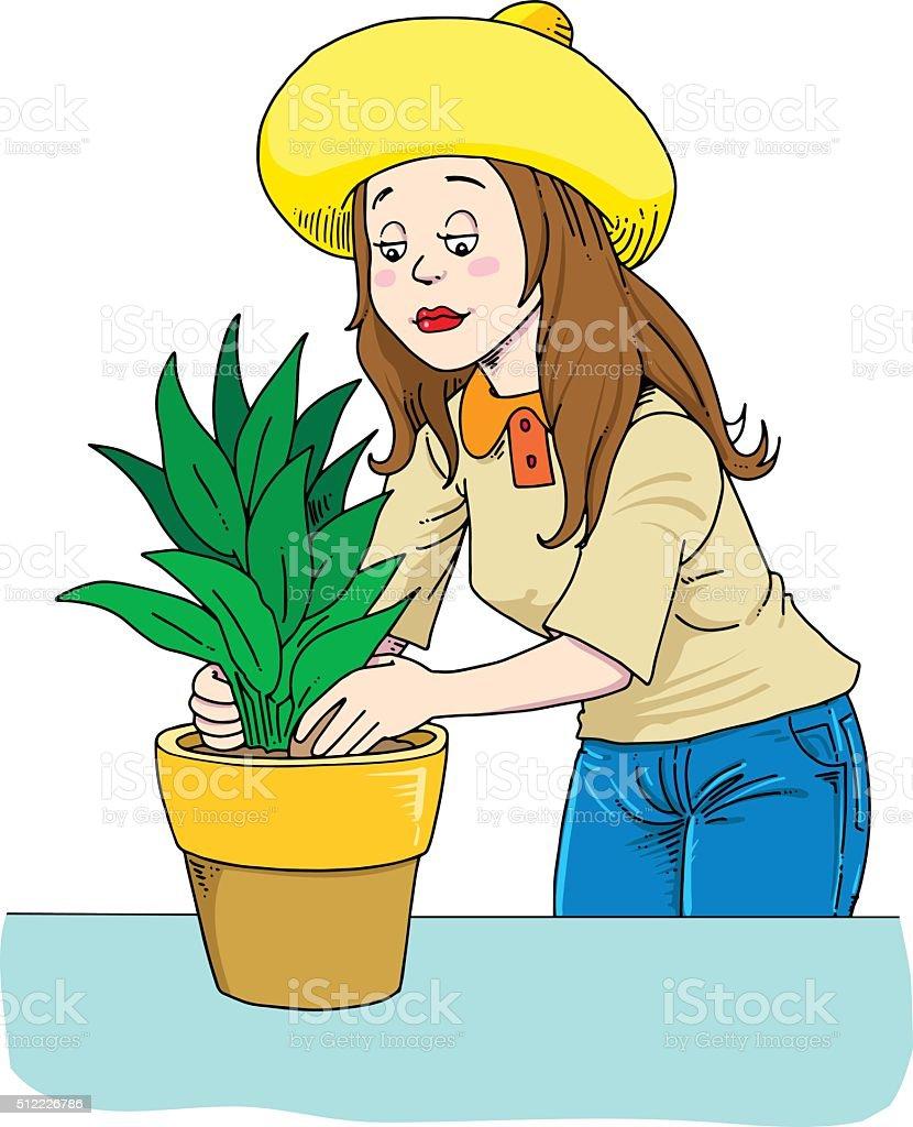 Gardening hobby vector art illustration