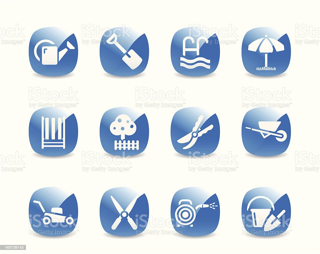 Gardening Icon Set royalty-free stock vector art