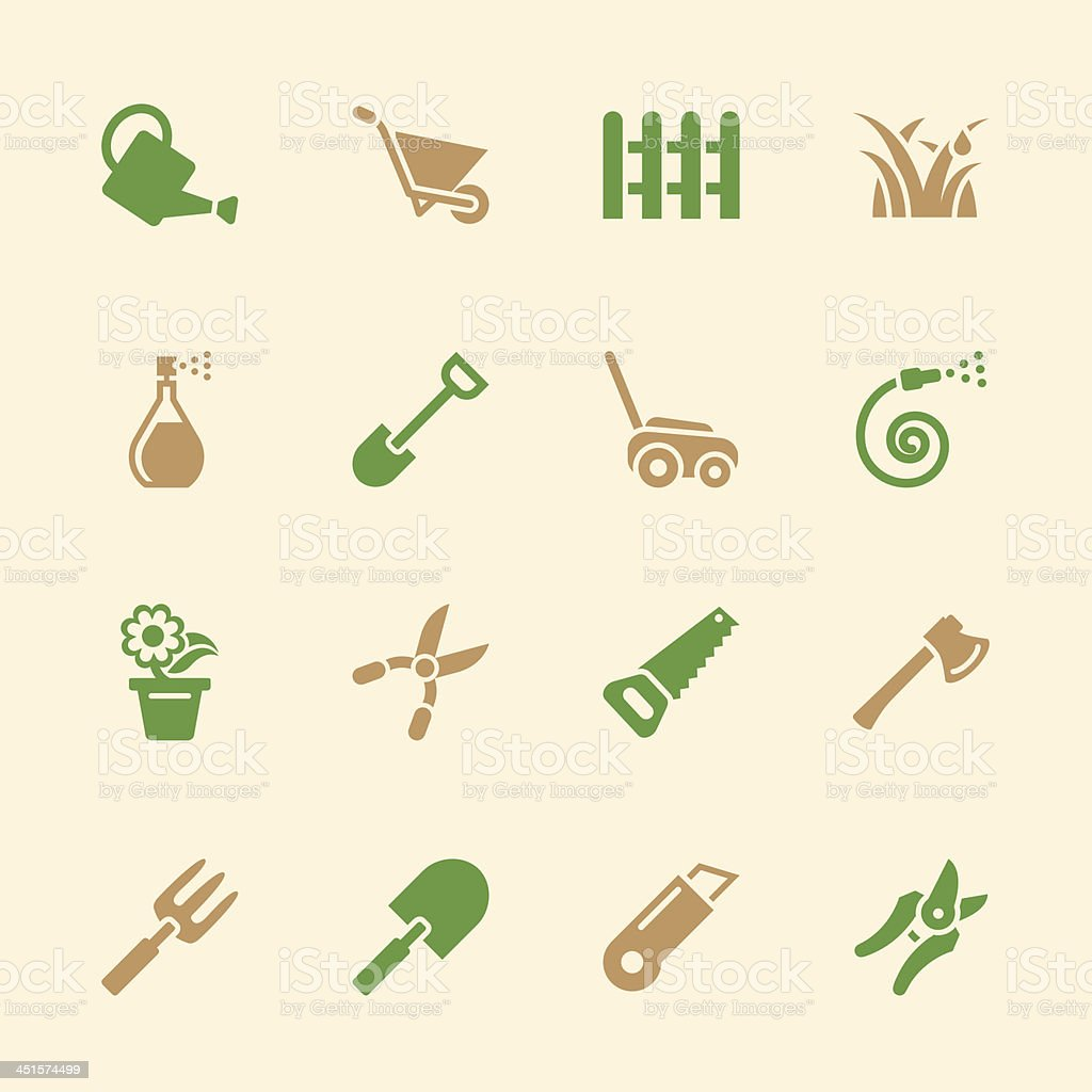 Gardening Icons - Color Series | EPS10 royalty-free stock vector art