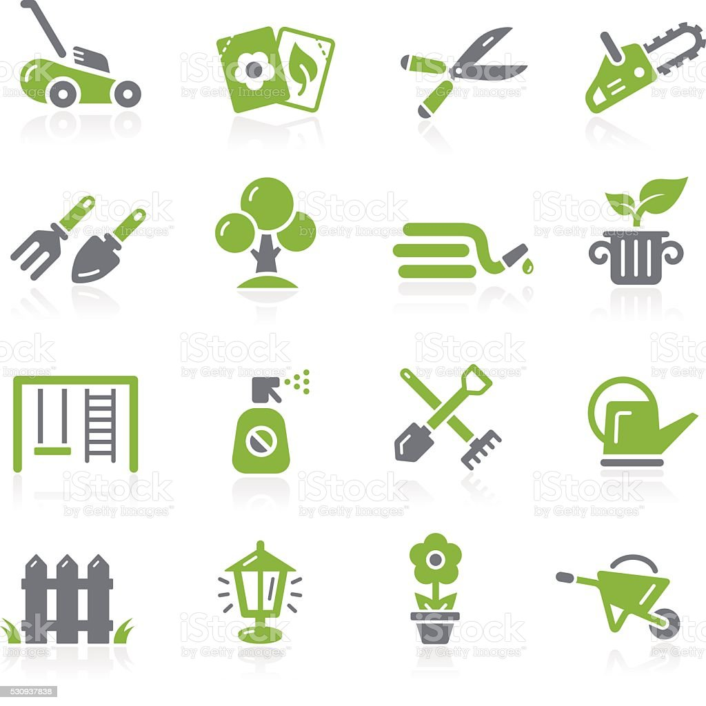 Gardening Icons - Natura Series vector art illustration