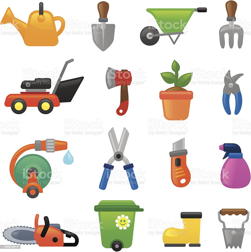 Gardening  icons | smoso series royalty-free stock vector art