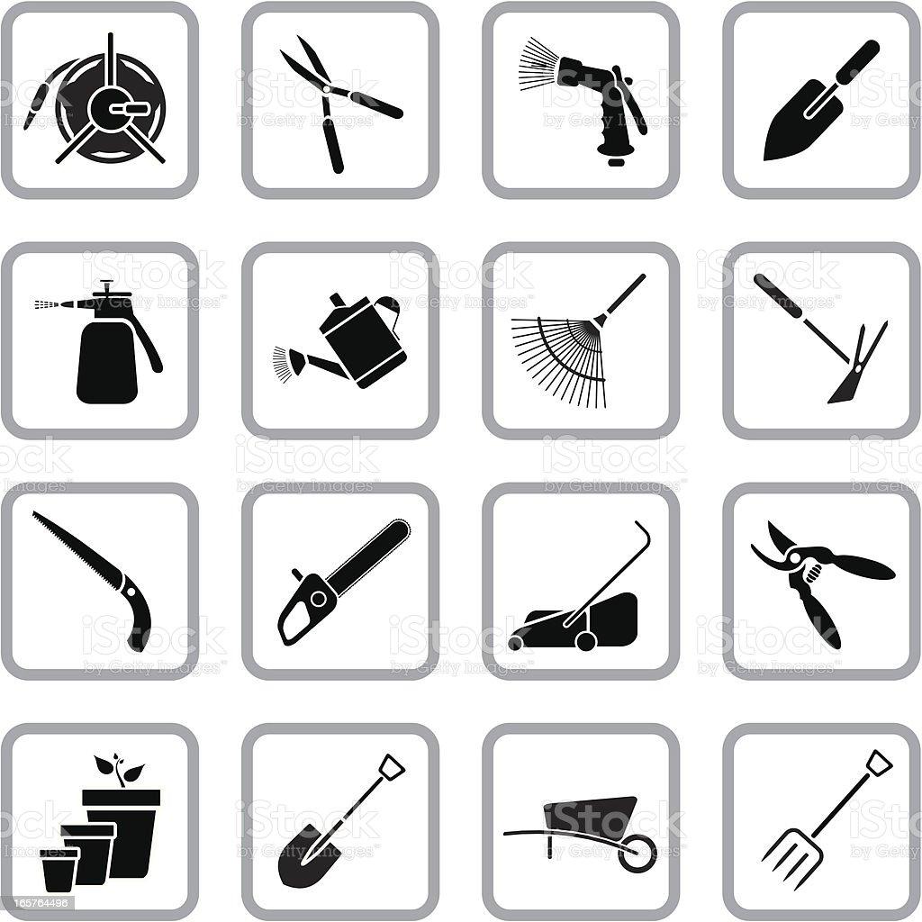 Gardening Icons vector art illustration