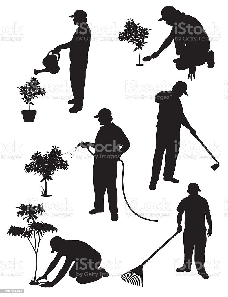 Gardening Service royalty-free stock vector art