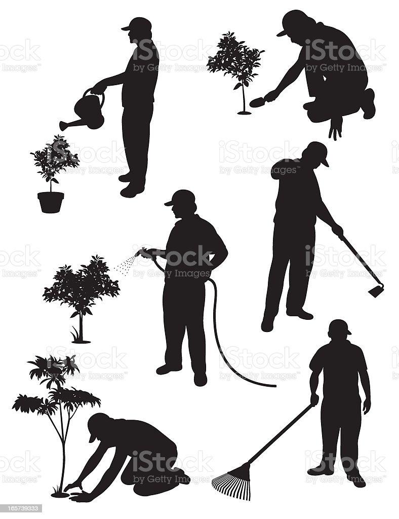 Gardening Service vector art illustration