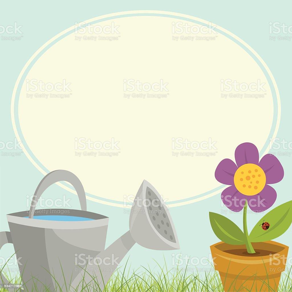 Gardening Sign vector art illustration