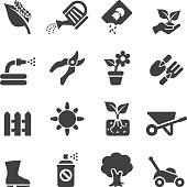 Gardening Silhouette icons | EPS10